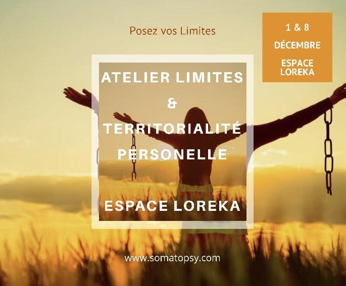 Atelier Limites & Territorialité Personnelle - Espace LOREKA - 1 Décembre